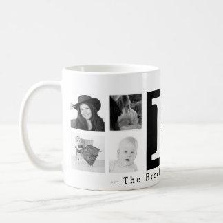 Large Monogram 8 Instagram Photo Collage Coffee Mug