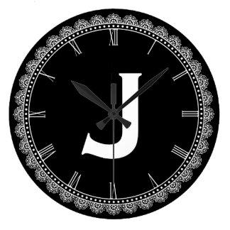 Large Monogram J Large Clock
