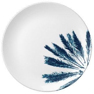 """Large more dinner plate """"palm tree I """""""