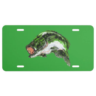 large moth bass license plate
