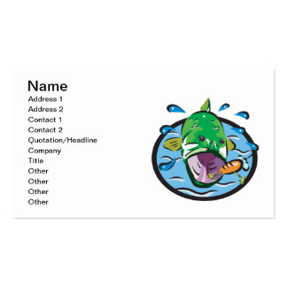 Large Mouth Bass 2 Business Card