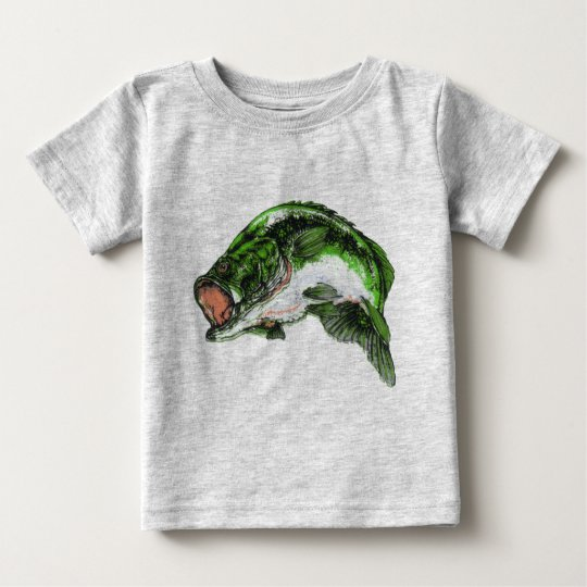 Large mouth Bass Baby T-Shirt
