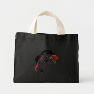 Large Mouth Bass beach tote Tote Bags