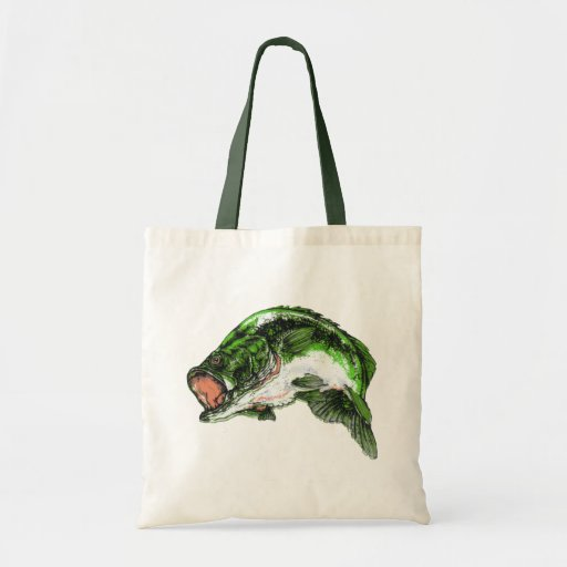 Large mouth Bass Budget Tote Bag