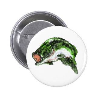 Large mouth Bass Button