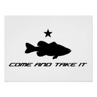 """Large Mouth Bass """"Come and Take It"""" Print"""