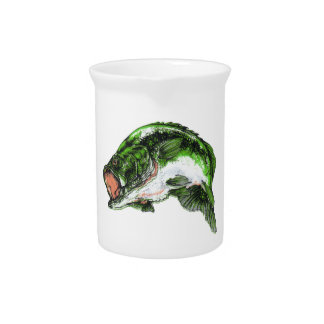 Large mouth Bass Drink Pitcher