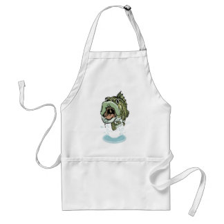Large Mouth Bass Fishing Design Adult Apron