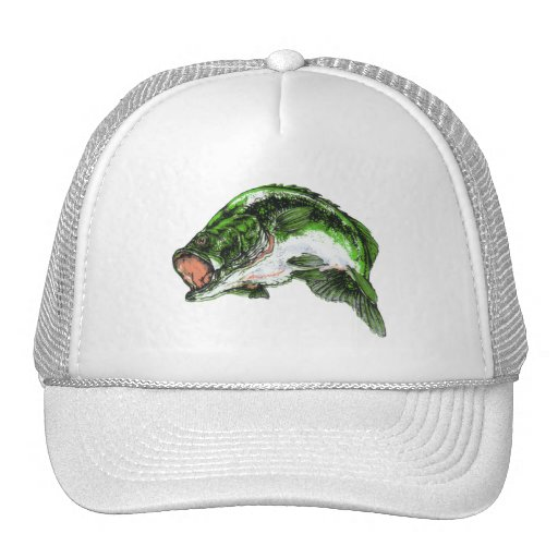 Large mouth Bass Mesh Hat