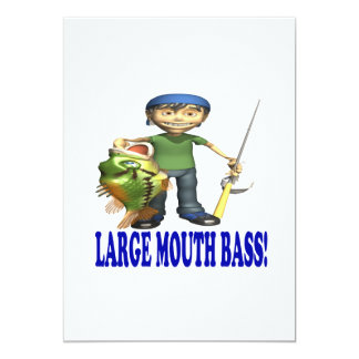 Large Mouth Bass 5x7 Paper Invitation Card
