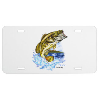 Large Mouth Bass License Plate