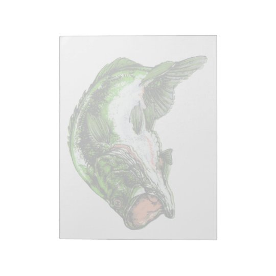 Large mouth Bass Notepad