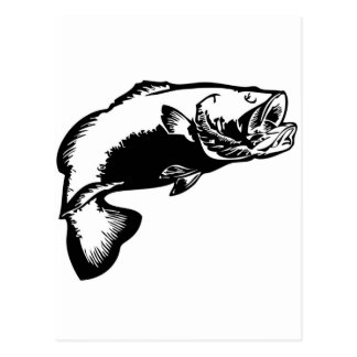 large mouth bass postcard