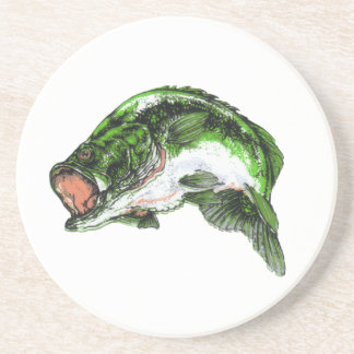 Large mouth Bass Sandstone Coaster