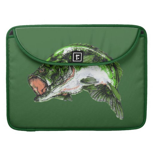 Large mouth Bass Sleeve For MacBook Pro