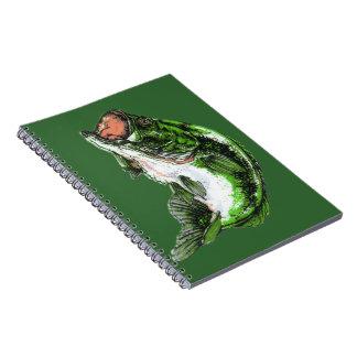Large mouth Bass Spiral Notebook