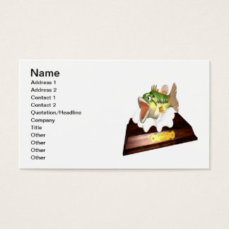 Large Mouth Bass Trophy Business Card