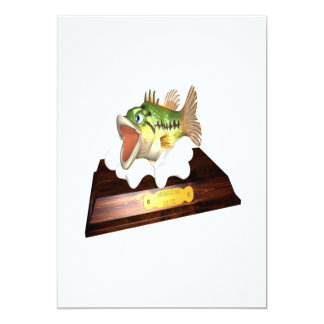 Large Mouth Bass Trophy 5x7 Paper Invitation Card