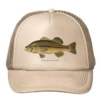 Large-mouth Black Bass Cap Mesh Hat