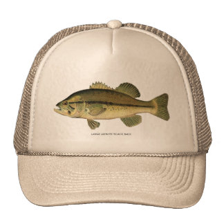 Large-mouth Black Bass Cap Trucker Hat