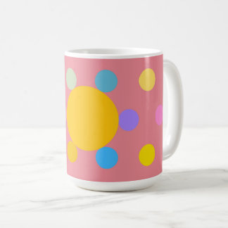 "Large Mug model, pink, ""stylized Fleur Pastel """