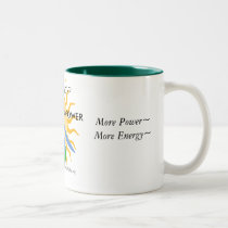Large Mug: Need ENERGY?, SOLAR & WIND POWE... Two-Tone Coffee Mug