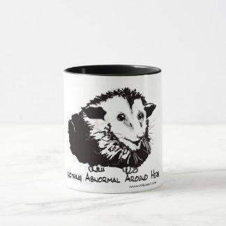 Large mug with possum image and profound sentiment