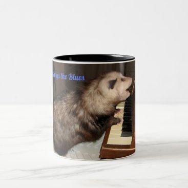 Coffee Themed Large Mug with Singing Possum