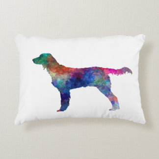 Large Munsterlander in watercolor Accent Pillow