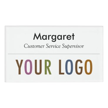 Halloween Themed Large Name Badge Magnet Custom Logo Employee Staff