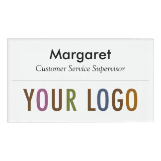 Large Name Badge Magnet Custom Logo Employee Staff Name Tag