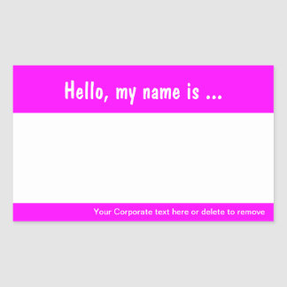 Large Name Tag / Badge Sticker for Corporate Event