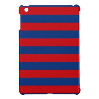 Large Nautical Theme Horizontal Stripes iPad Mini Case