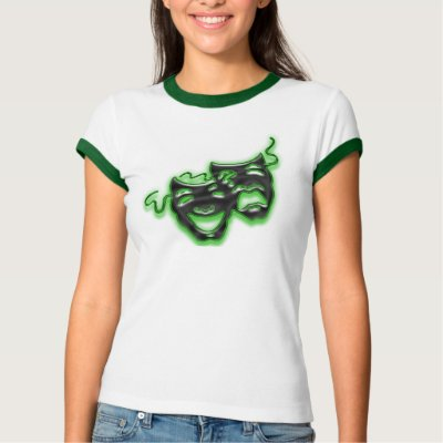 black and neon green t shirt