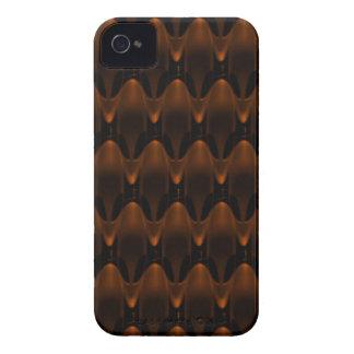 Large Neon Orange Alien Skull Pattern Case-Mate iPhone 4 Case