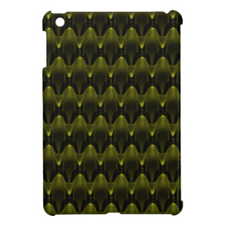 Large Neon Yellow Alien Invasion Pattern iPad Mini Cover