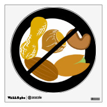 Large No Nuts Symbol Peanut Tree Nut Free Area Wall Sticker