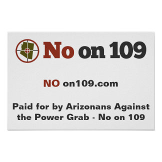 Large No on 109 Sign