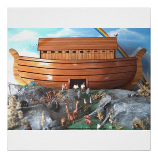Large Noahs Ark Diorama Picture Poster