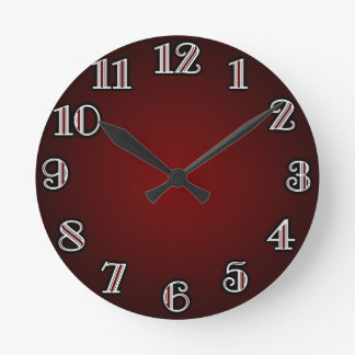 Large Numbers/ Red Round Clock