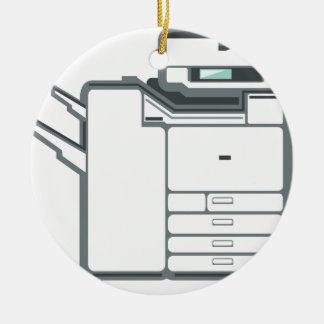 Large office printer ceramic ornament
