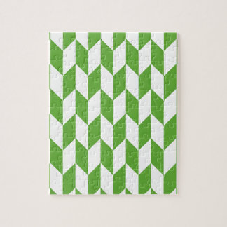 Large offset chevron pattern in Grass Green Jigsaw Puzzle