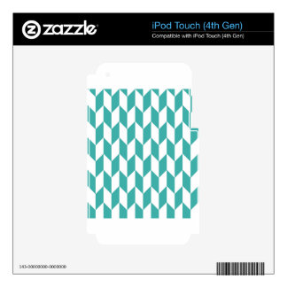 Large offset chevron pattern in Teal iPod Touch 4G Skins