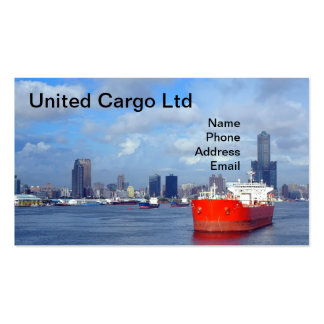 Large Oil Tanker and Port View Double-Sided Standard Business Cards (Pack Of 100)