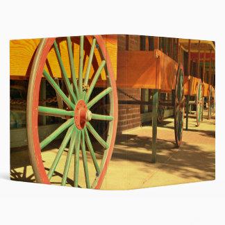 Large Old Fashioned Wagon Wheels Binder