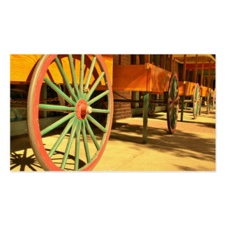 Large Old Fashioned Wagon Wheels Business Card