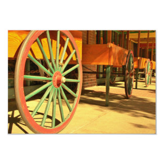 Large Old Fashioned Wagon Wheels Card