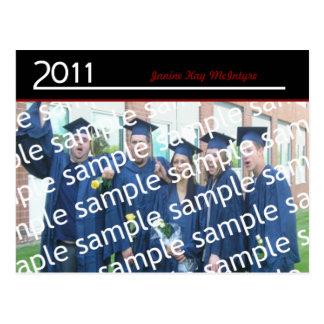 Large One Photo 2011 Grad Announcement Postcard