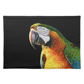 Large Orange and Teal Parrot on a Stump Placemat