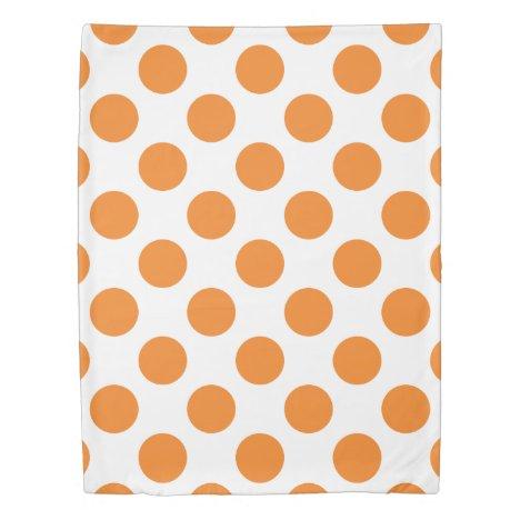 Large Orange Polka Dots Duvet Cover